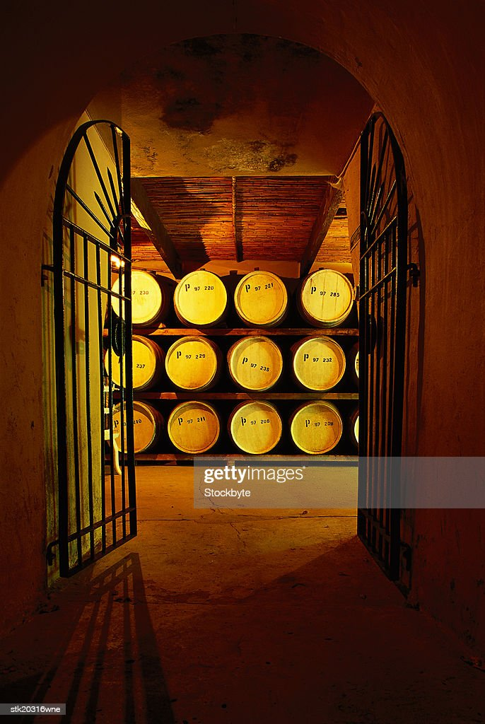 shot of the entrance to a wine cellar : Stock Photo