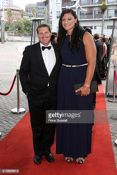 Shot Put athlete Valerie Adams arrives at the 2016 Halberg Awards at Vector Arena on February 18 2016 in Auckland New Zealand