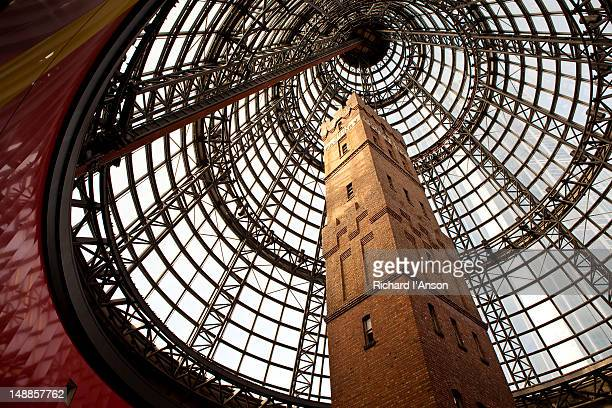 Shot Tower and dome at Melbourne Central shopping centre.