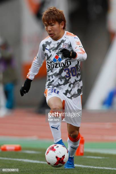 Shota Kaneko of Shimizu SPulse in action during the JLeague J1 match between Albirex Niigata and Shimizu SPulse at Denka Big Swan Stadium on March 11...