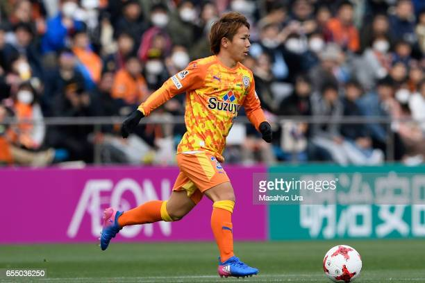Shota Kaneko of Shimizu SPulse in action during the JLeague J1 match between Shimizu SPulse and Kashima Antlers at IAI Stadium Nihondaira on March 18...
