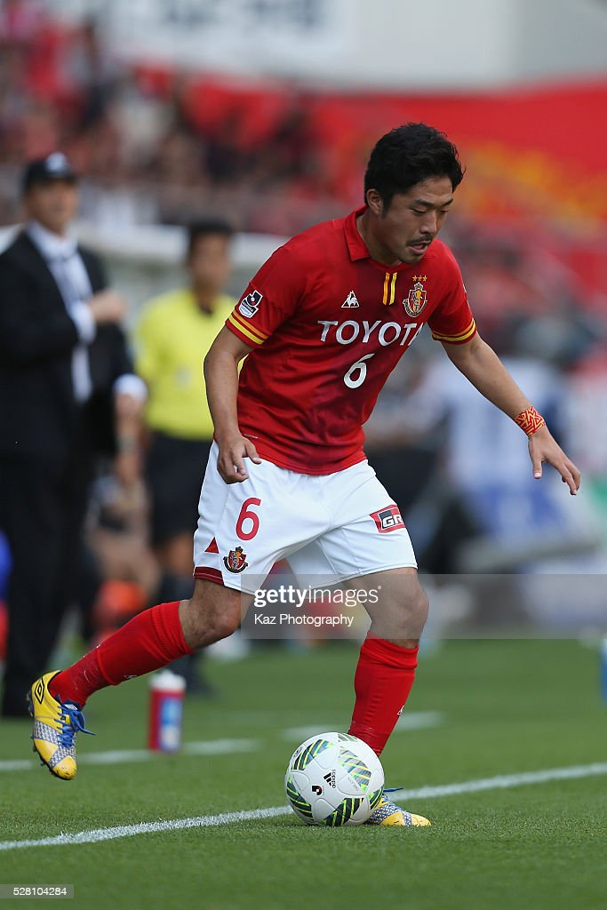 Shota Kobayashi of Nagoya Grampus in action during the J.League match between Nagoya Grampus and Yokohama F.Marinos at the Toyota Stadium on May 4, 2016 in Toyota, Aichi, Japan.