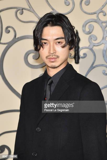 Shota Matsuda attends the Givenchy show as part of the Paris Fashion Week Womenswear Spring/Summer 2018 on October 1 2017 in Paris France