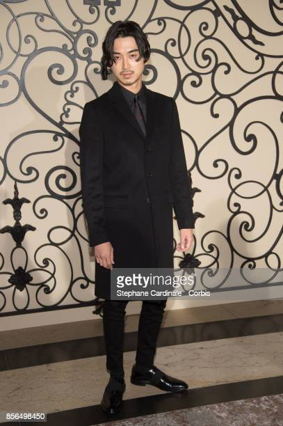 Shota Matsuda attends the Givenchy show as part of the Paris Fashion Week Womenswear Spring/Summer 2018 at on October 1 2017 in Paris France
