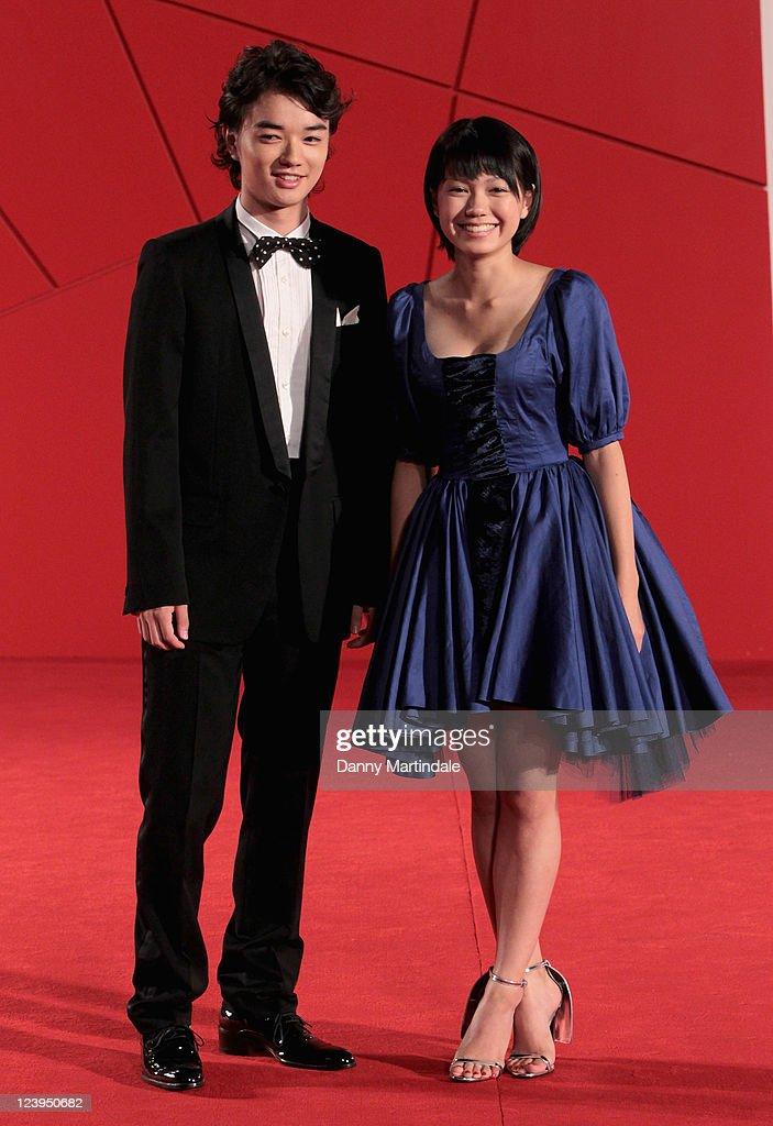 Shota Sometani and Fumi Nikaido attend the 'Himizu' Premiere at Palazzo del Cinema on September 6 2011 in Venice Italy