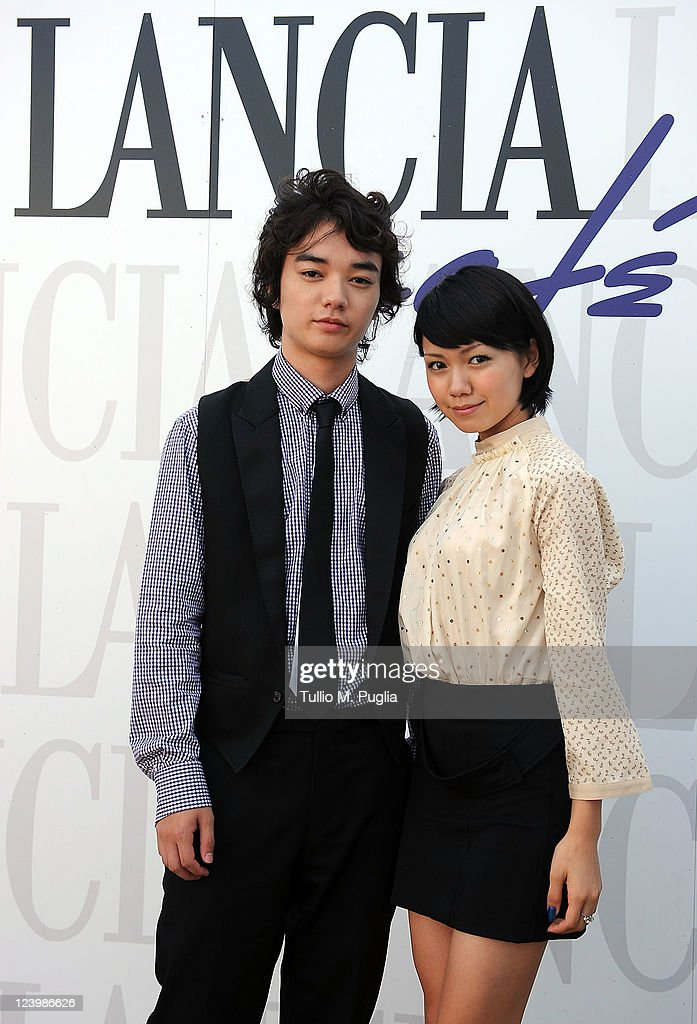Shota Sometani and Fumi Nikaido visit the Lancia Cafe during the 68th Venice Film Festival on September 7 2011 in Venice Italy