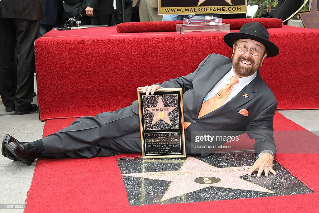'Shotgun Tom' Kelly attends the ceremony honoring him with a star on The Hollywood Walk of Fame held on April 30, 2013 in Hollywood, California.