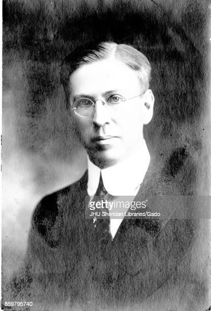 Shoulders up portrait of Herbert Pierrepont Houghton scholar and professor of classics and linguistics 1910