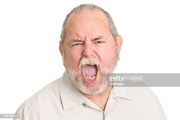 Shouting Senior Man