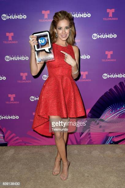 MUNDO 2017 'Show Backstage' Pictured Carmen Aub backstage during the 2017 Premios Tu Mundo at the American Airlines Arena in Miami Florida on August...