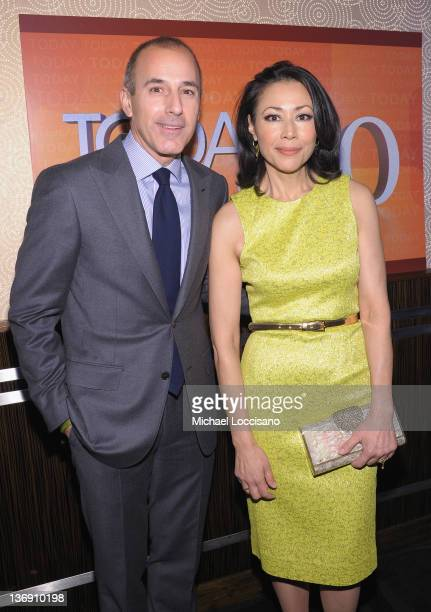 'TODAY' Show correspondents Matt Lauer and Ann Curry attend the 'TODAY' Show 60th anniversary celebration at The Edison Ballroom on January 12 2012...