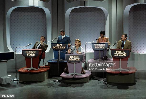 ASK Show Coverage 10/28/68 Glenn Ford Jan Murray Rose Marie Chelsea Brown Paul Lynde on the ABC Television Network game show 'Funny You Should Ask'