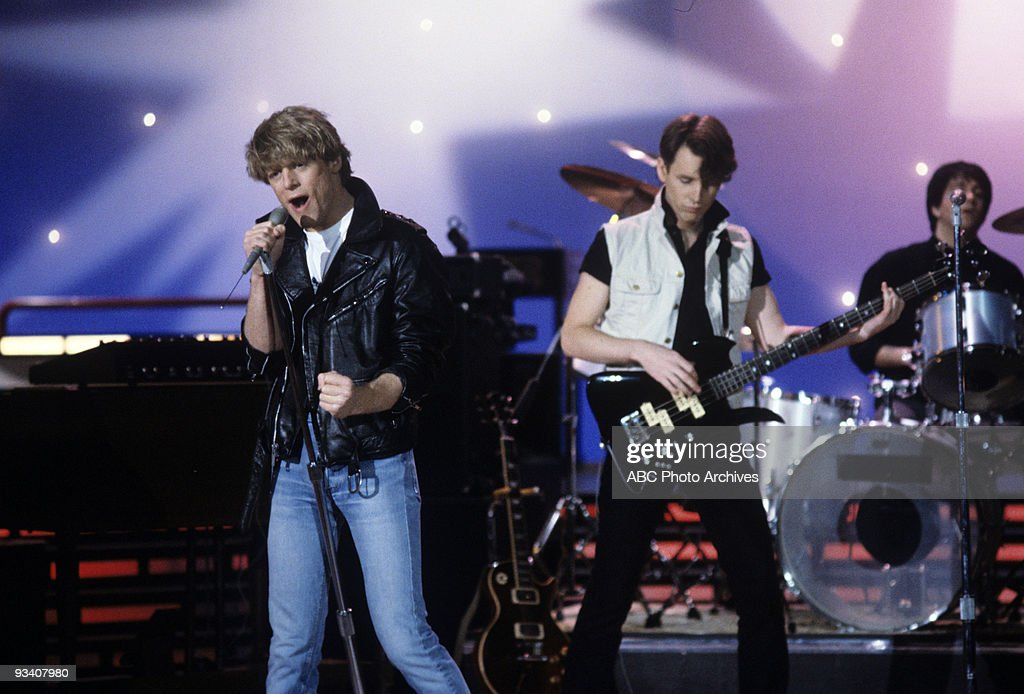 BANDSTAND - Show Coverage - 3/22/83, Brian Adams and Group on the ABC Television Network dance show 'American Bandstand'.,