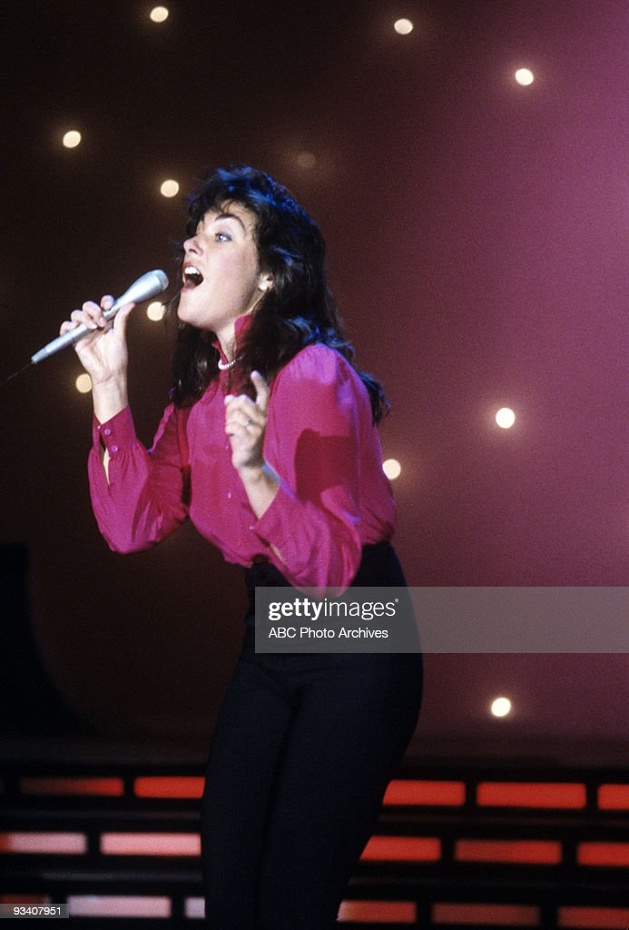 BANDSTAND - Show Coverage - 3/22/83, <a gi-track='captionPersonalityLinkClicked' href=/galleries/search?phrase=Laura+Branigan&family=editorial&specificpeople=3207939 ng-click='$event.stopPropagation()'>Laura Branigan</a> on the ABC Television Network dance show 'American Bandstand'.,