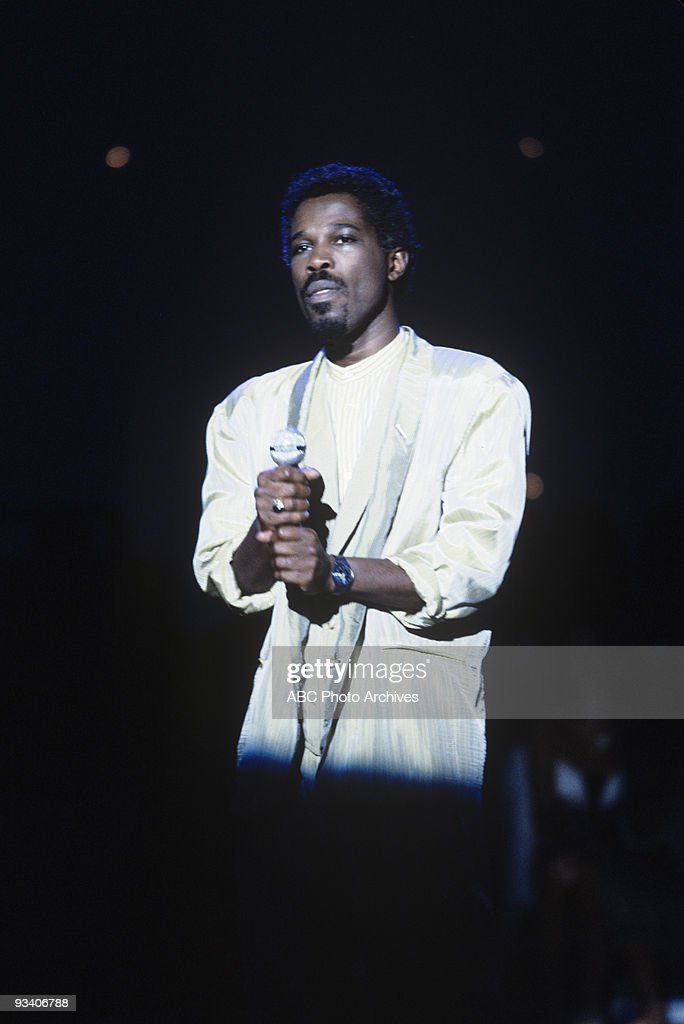 BANDSTAND - Show Coverage - 8/25/86, <a gi-track='captionPersonalityLinkClicked' href=/galleries/search?phrase=Billy+Ocean&family=editorial&specificpeople=3059490 ng-click='$event.stopPropagation()'>Billy Ocean</a> on the ABC Television Network dance show 'American Bandstand'.,
