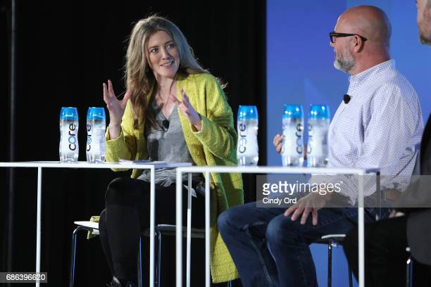 Show Creator Annabel Jones and Editor Andrew Sullivan speak onstage at the Black Mirror panel during the 2017 Vulture Festival at Milk Studios on May...