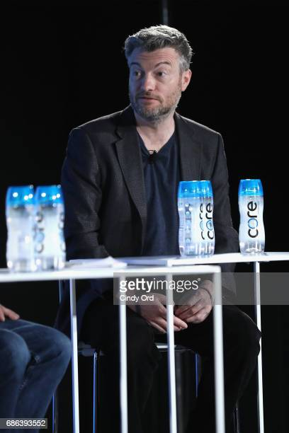 Show Creator Charlie Booker speaks onstage at the Black Mirror panel during the 2017 Vulture Festival at Milk Studios on May 21 2017 in New York City