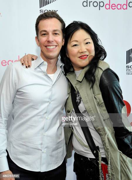 Show creator Josh Berman and actress Margaret Cho attend the 'Drop Dead Diva' final season premiere party on March 23 2014 in West Hollywood...