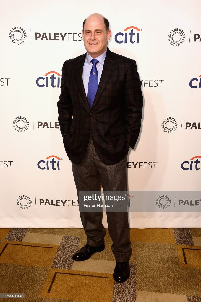 Show creator <a gi-track='captionPersonalityLinkClicked' href=/galleries/search?phrase=Matthew+Weiner&family=editorial&specificpeople=4148376 ng-click='$event.stopPropagation()'>Matthew Weiner</a> arrives at The Paley Center For Media's PaleyFest 2014 Honoring 'Mad Men' at Dolby Theatre on March 21, 2014 in Hollywood, California.