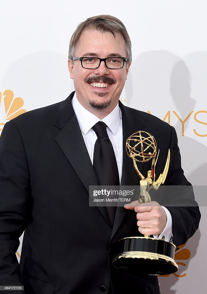 Show Creator Vince Gilligan winner of the Outstanding Drama Series Award for Breaking Bad poses in the press room during the 66th Annual Primetime...