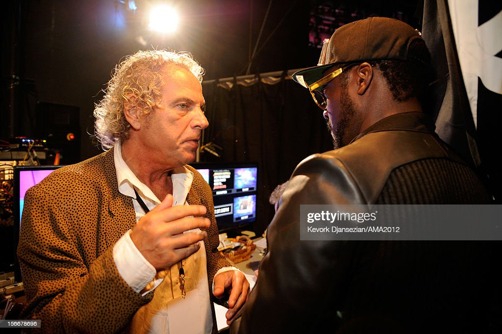 Show executive producer Larry Klein and musician will.i.am at the 40th American Music Awards held at Nokia Theatre L.A. Live on November 18, 2012 in Los Angeles, California.