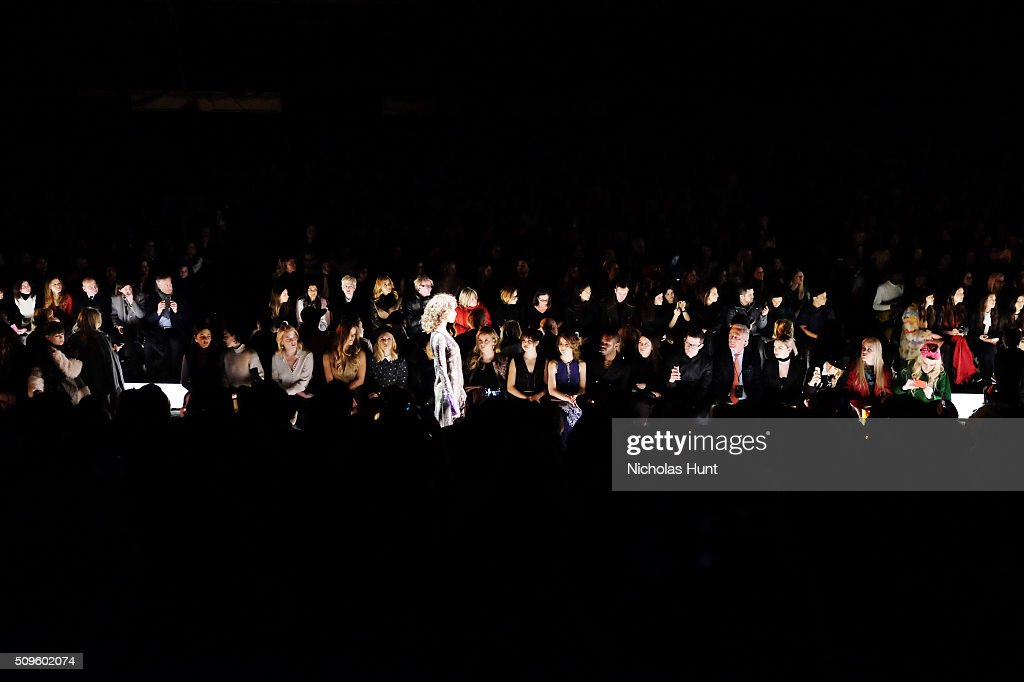 Show Finale for the BCBGMAXAZRIA show during Fall 2016 New York Fashion Week: The Shows at The Arc, Skylight at Moynihan Station on February 11, 2016 in New York City.