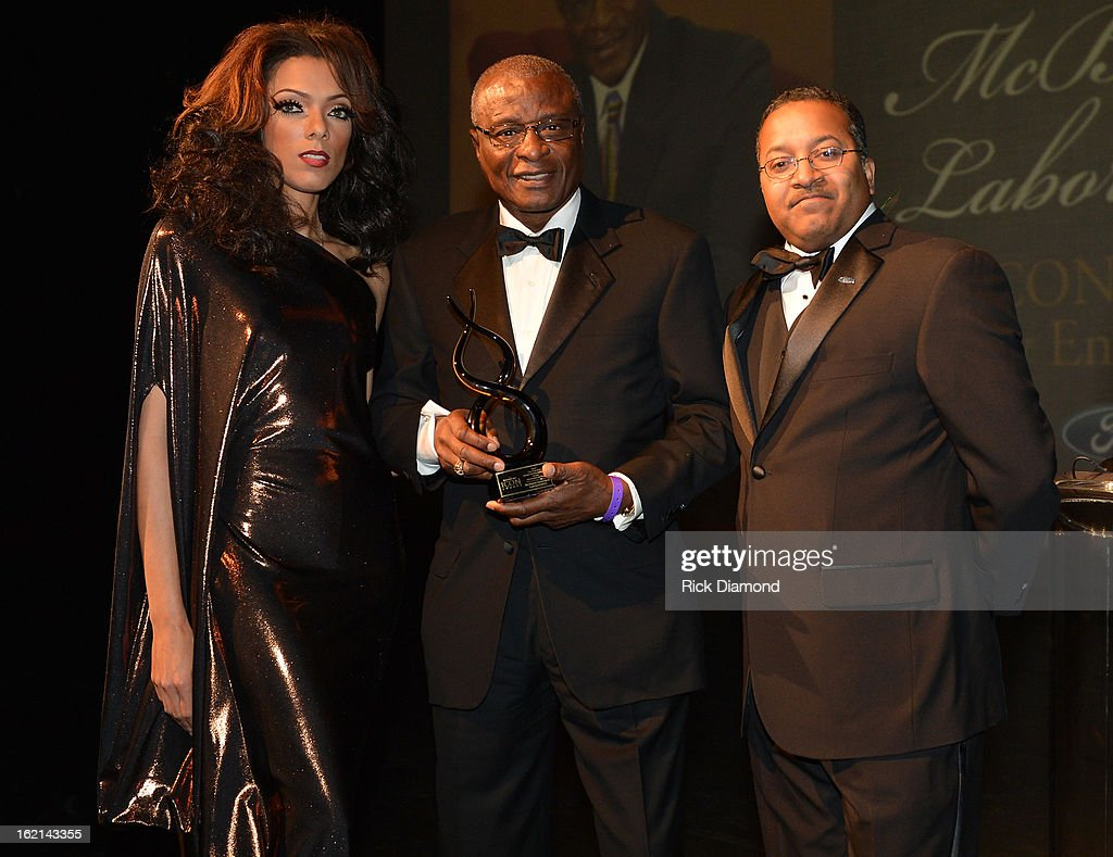 BB Show Girl, ICON Cornell McBride Sr.and KP Smith (FORD) attend the 2013 Bronner Bros. ICON Awards Presented By FORD - Show on February 18, 2013 in Atlanta, Georgia. United States.