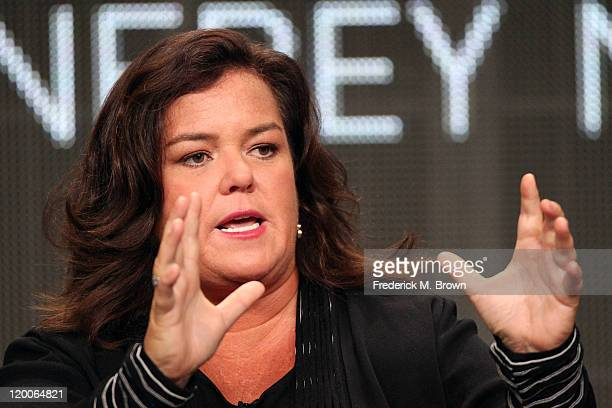 TV show host Rosie O'Donnell speaks during the 'The Rosie Show' panel during the OWN portion of the 2011 Summer TCA Tour held at the Beverly Hilton...