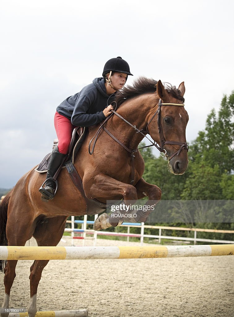 Show jumping training, Oslo Norway