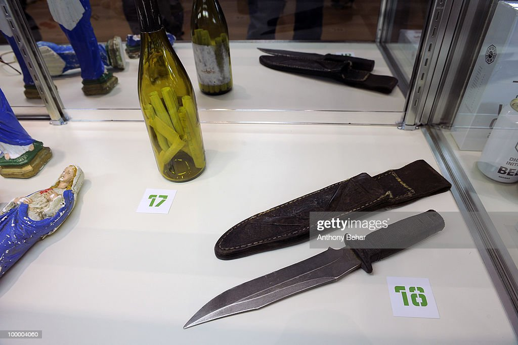 TV show 'Lost' props on display at the opening the Vilcek Foundation's exhibition of