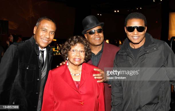 Show musical designer Kevin Antunes Katherine Jackson Tito Jackson and Jackie Jackson appear at Michael Jackson Fan Fest prior to the Las Vegas...