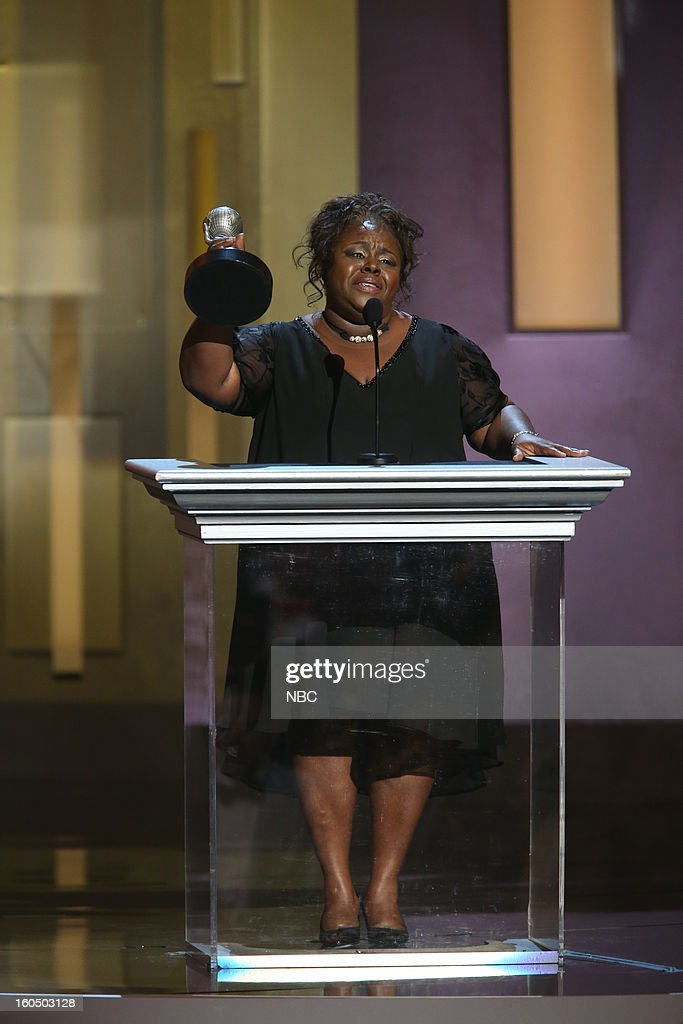 Cassi Davis, winner Outstanding Actress in a Comedy Series, 'Tyler Perry's House of Payne' on stage at The Shrine Auditorium, February 1, 2013 --