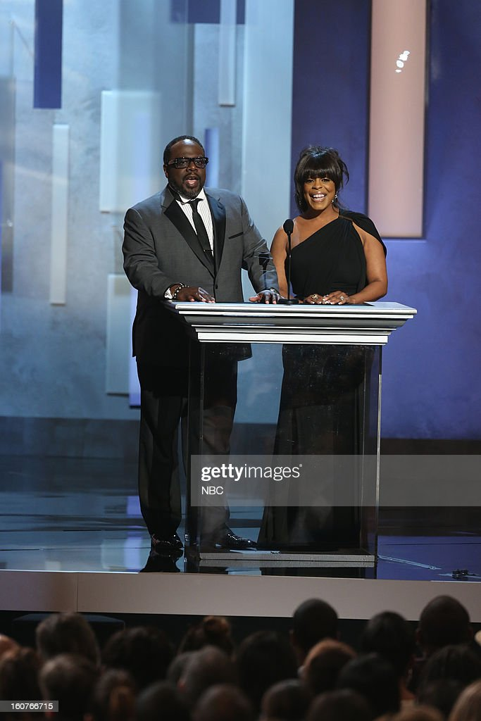 Cedric the Entertainer, Niecy Nash present on stage at The Shrine Auditorium, February 1, 2013 --