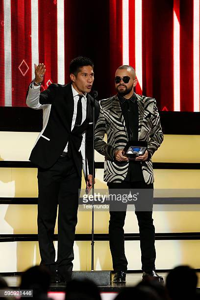 MUNDO 2016 'Show' Pictured Chino Nacho on stage during the 2016 Premios Tu Mundo at the American Airlines Arena in Miami Florida on August 25 2016