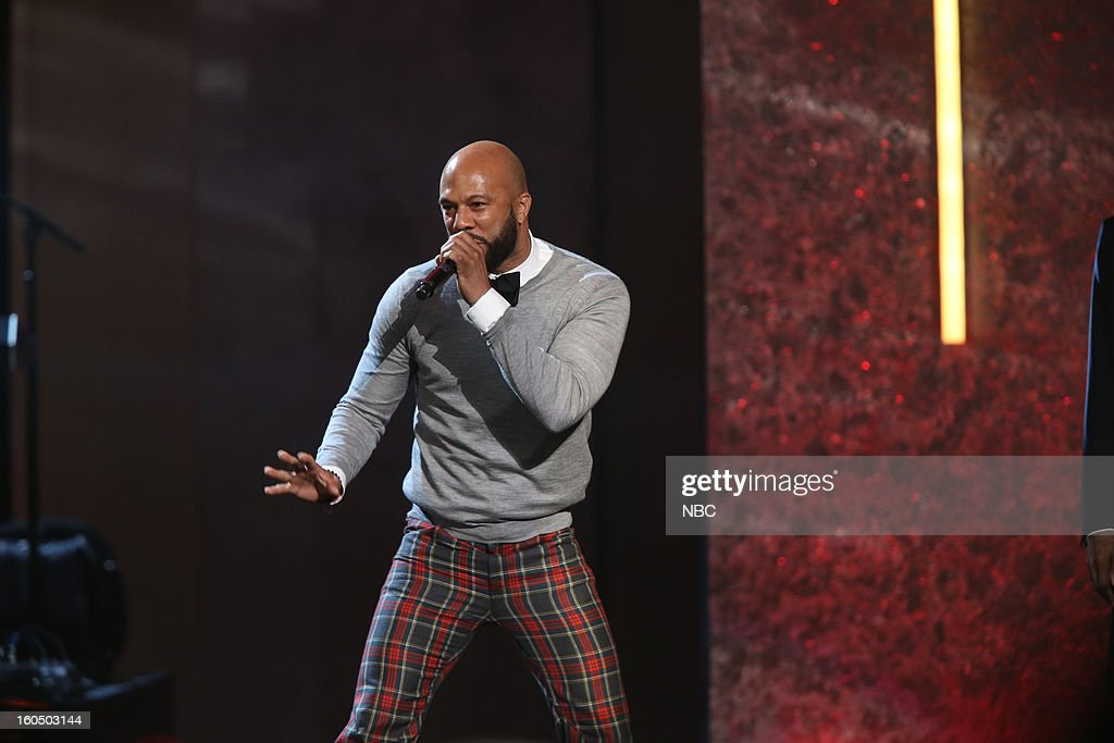 Common performing on stage at The Shrine Auditorium, February 1, 2013 --