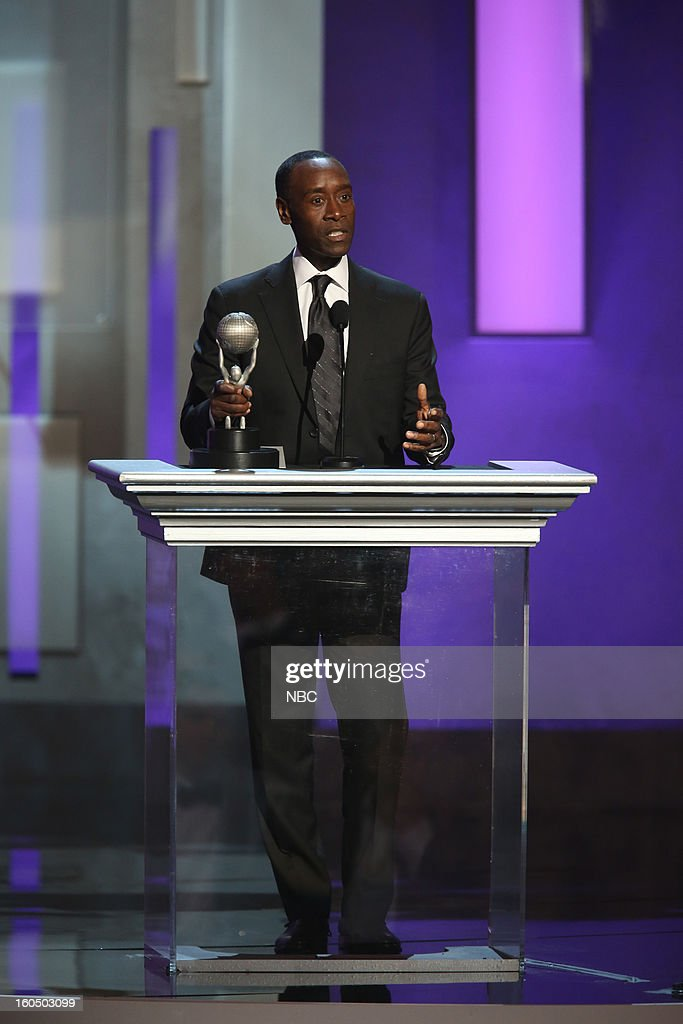 Don Cheadle, winner Outstanding Actor in a Comedy Series, 'House of Lies' on stage at The Shrine Auditorium, February 1, 2013 --