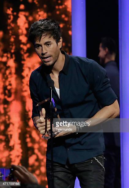 Enrique Iglesias on stage during the 2015 Billboard Latin Music Awards from Miami Florida at the BankUnited Center University of Miami on April 30...