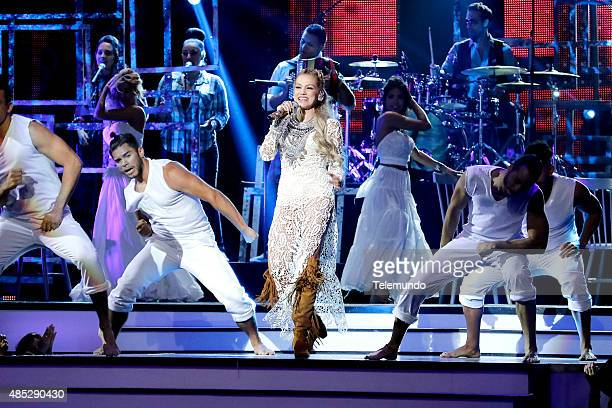 Fanny Lu on stage during the 2015 Premios Tu Mundo at the American Airlines Arena in Miami Florida on August 20 2015 PREMIOS TU MUNDO 2015 Programa...