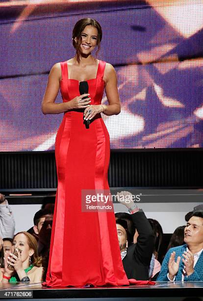 Gaby Espino on stage during the 2015 Billboard Latin Music Awards from Miami Florida at the BankUnited Center University of Miami on April 30 2015...