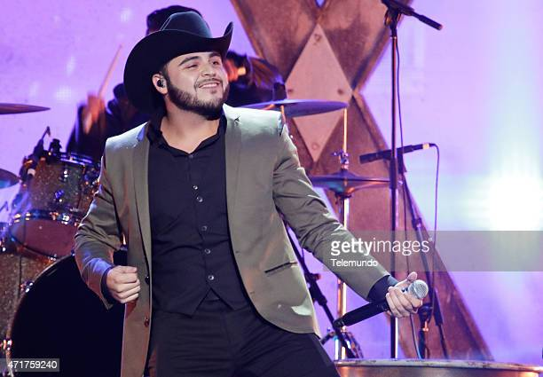 Gerardo Ortiz on stage during the 2015 Billboard Latin Music Awards from Miami Florida at the BankUnited Center University of Miami on April 30 2015...