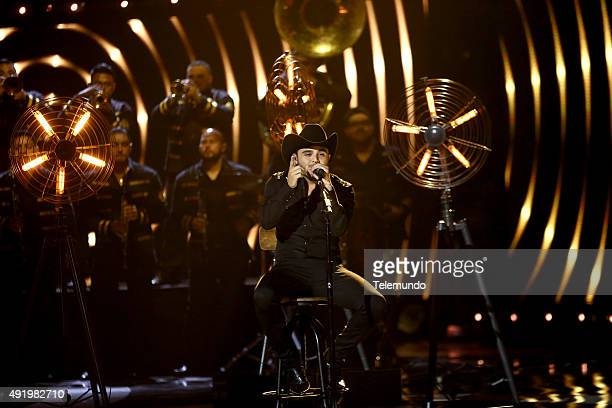 Gerardo Ortiz on stage during the 2015 Latin American Music Awards at The Dolby Theater in Hollywood CA on October 8 2015 LATIN AMERICAN MUSIC AWARDS...