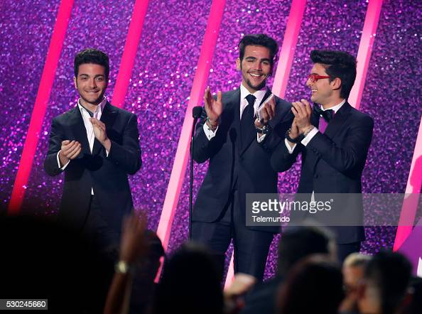 Gianluca Ginoble Ignazio Boschetto and Piero Barone on stage during the 2014 Billboard Latin Music Awards from Miami Florida at the BankUnited Center...