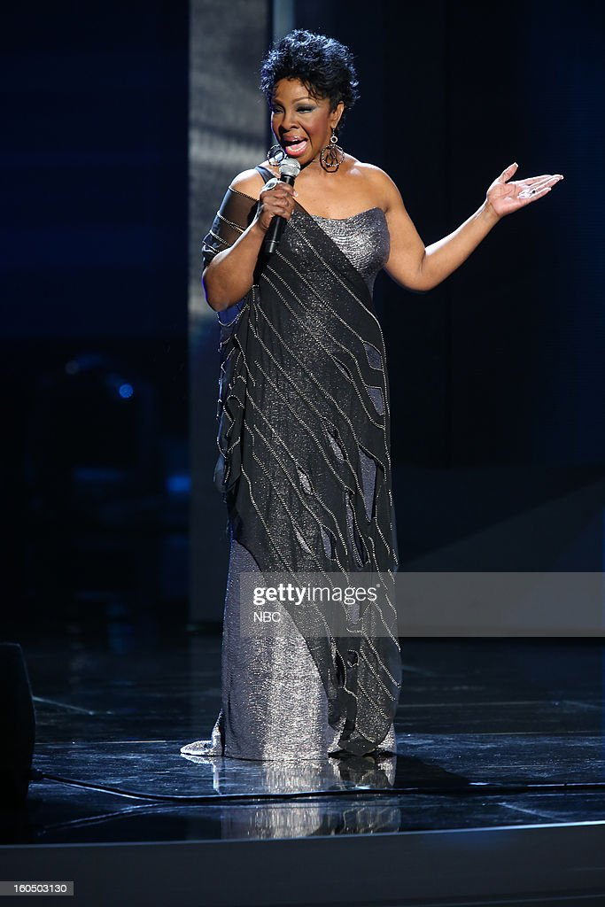 Gladys Knight performing on stage at The Shrine Auditorium, February 1, 2013 --