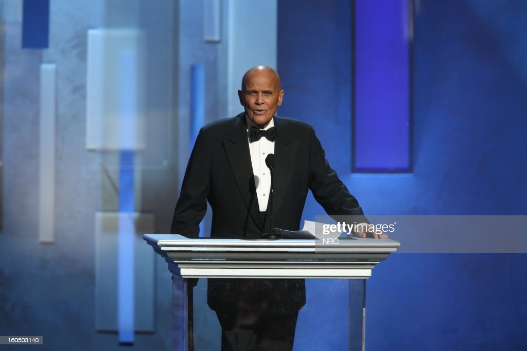 Harry Belafonte on stage at The Shrine Auditorium, February 1, 2013 --