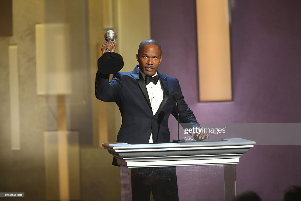 <a gi-track='captionPersonalityLinkClicked' href=/galleries/search?phrase=Jamie+Foxx&family=editorial&specificpeople=201715 ng-click='$event.stopPropagation()'>Jamie Foxx</a>, winner Entertainer of the Year, on stage at The Shrine Auditorium, February 1, 2013 --
