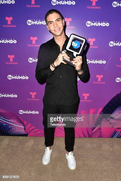 MUNDO 2017 'Show' Pictured Johann Vera backstage during the 2017 Premios Tu Mundo at the American Airlines Arena in Miami Florida on August 24 2017