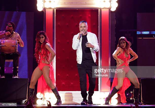 Juan Magan on stage during the 2015 Billboard Latin Music Awards from Miami Florida at the BankUnited Center University of Miami on April 30 2015...