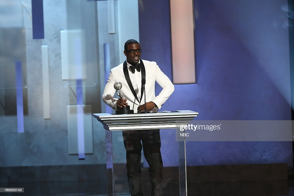 Lance Gross, winner Outstanding Supporting Actor in a Comedy Series, 'Tyler Perry's House of Payne' on stage at The Shrine Auditorium, February 1, 2013 --