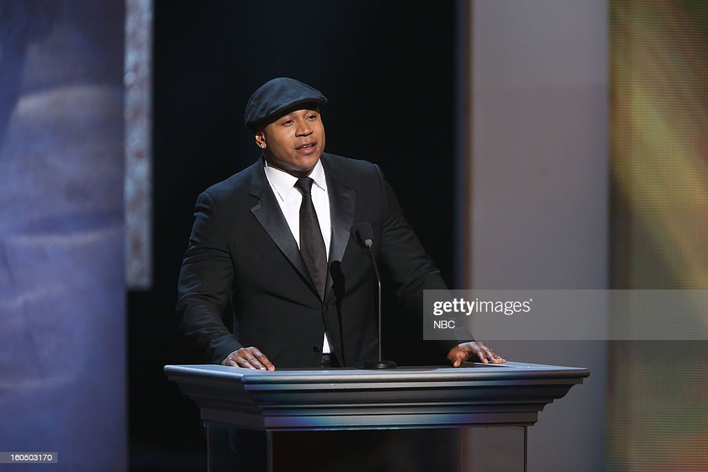 LL Cool J presenting on stage at The Shrine Auditorium, February 1, 2013 --