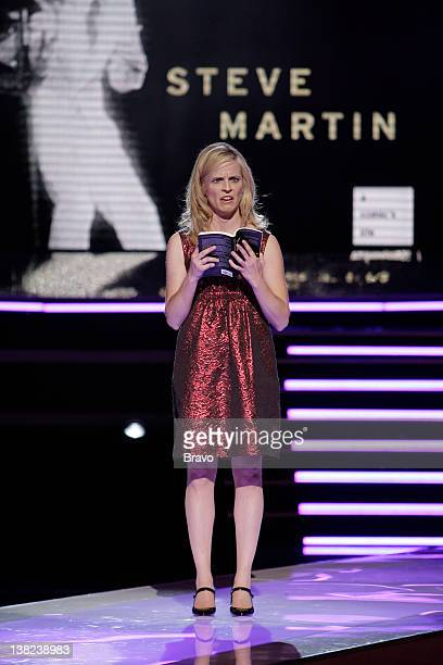 Maria Bamford reading 'Born Standing Up' by Steve Martin at Bravo's 'AList Awards' show on April 5 2009 at The Orpheum Theater in Los Angeles CA 'The...